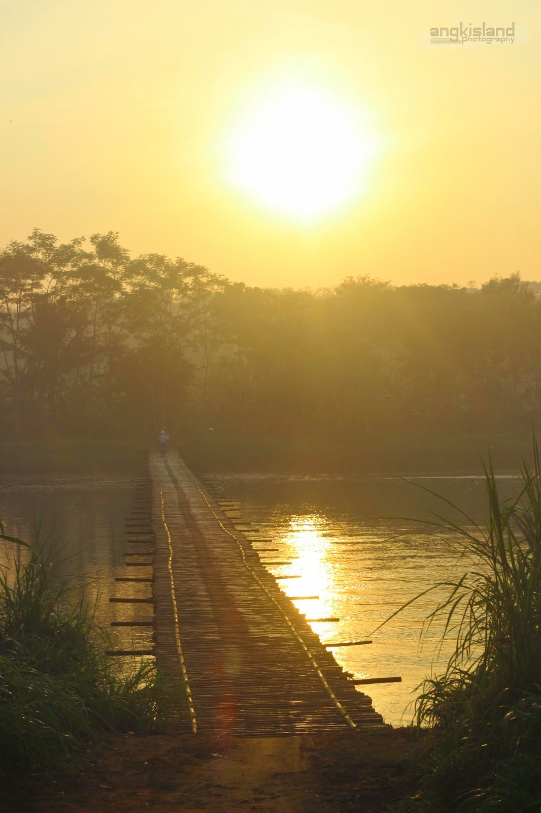sunrise pagi jembatan pajangan