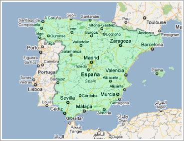 mapa completo de espanha Espanha: Localização no Mapa Múndi mapa completo de espanha