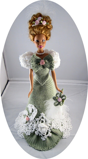 Barbie Crochet Ball Gown Dress Costume