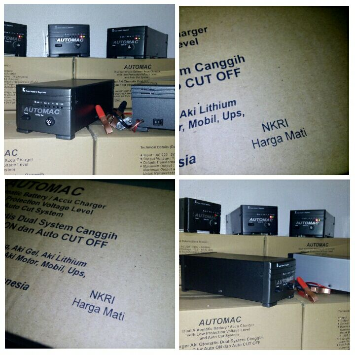 Charger Aki Otomatis Dual System Canggih Automac Portable Case