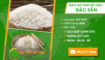 Đại lý buôn bán gạo ngon - gạo Tạp dao Hải Hậu - Nam Định