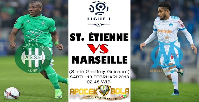 Prediksi Saint-Etienne vs Marseille 10 Februari 2018