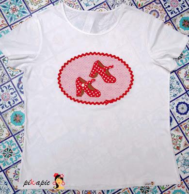 Camiseta flamenca tacones Pikapic