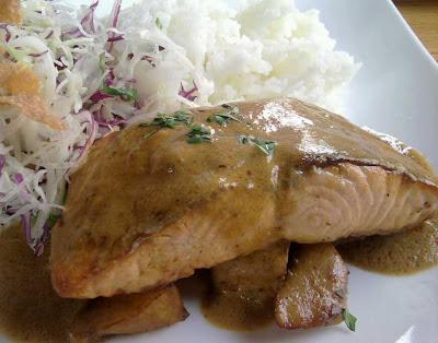 Muramoto Pan Fried Salmon with Coconut Curry