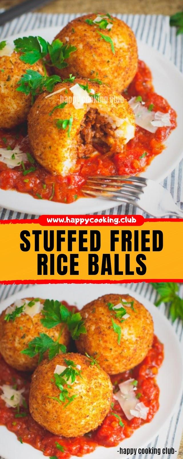STUFFED FRIED RICE BALLS