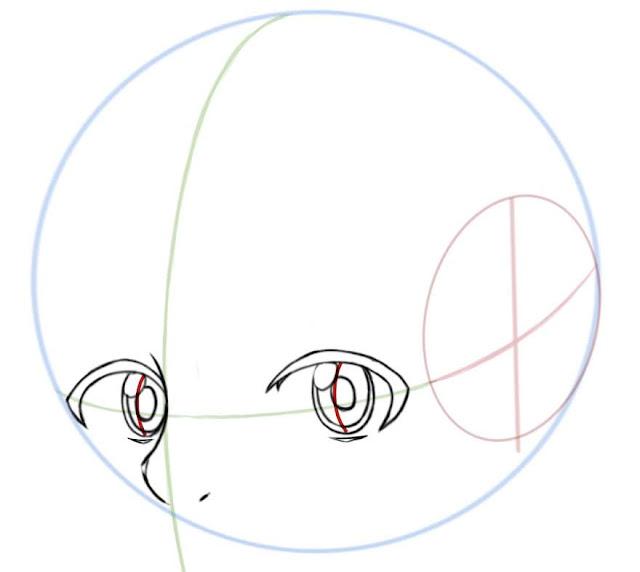 Dessiner des yeux manga de côté: dessiner les pupilles et les reflets