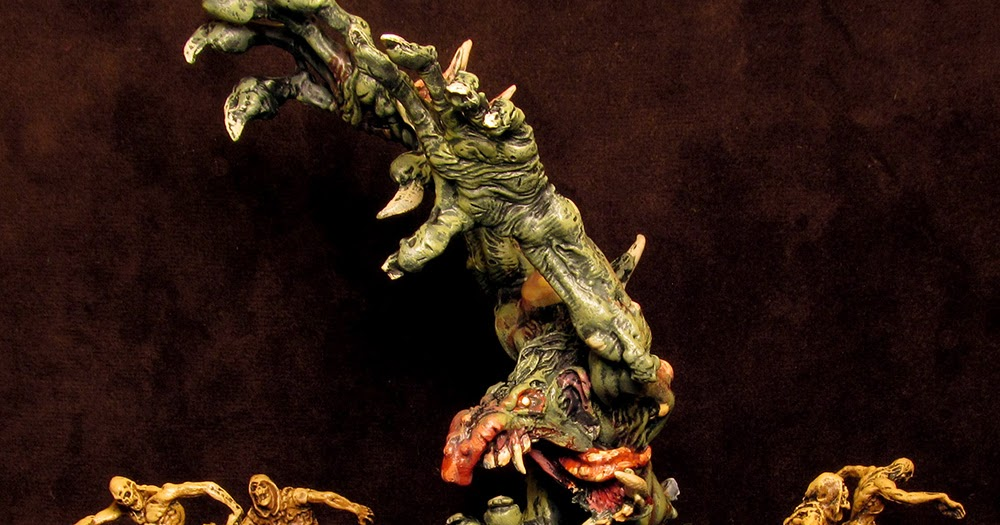 Black Plague Abomination Painting