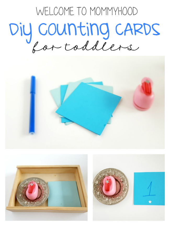 DIY Counting Cards for toddlers by Welcome to Mommyhood #toddleractivities, #mathactivities, #counting, #DIYnumbercards, #montessori, #earlylearning