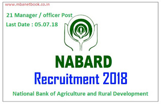 NABARD Recruitment for 21 Manager/Specialist Officers