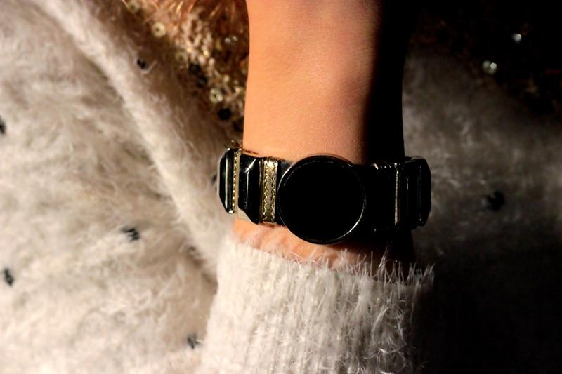 bracelet jumper sweater girl fashion inspiration romwe
