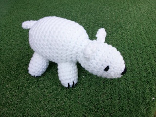 Plush Polar Bear in Crochet