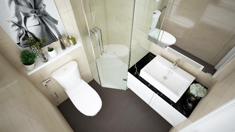 Thiết kế nhà vệ sinh tại dự án chung cư Panorama Hoàng Mai