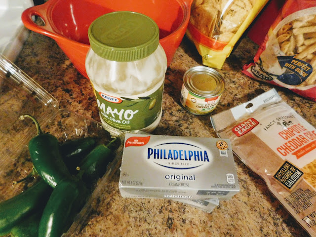 Cheesy Jalapeno Dip ingredients