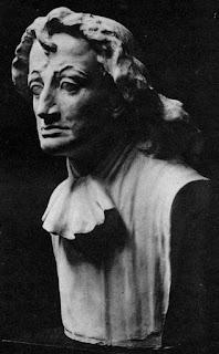 Spinoza-buste van Georg Wienbrack, zoals afgebeeld in het boek van Ernst Altkirch, Spinoza im porträt, Jena, 1913