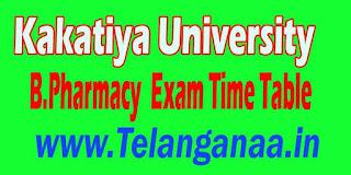 Kakatiya University B.Pharmacy Supply Exam Time Table