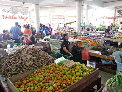 Various fruits and vegetables at Serian Market