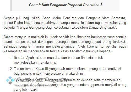 Contoh Kata Pengantar Untuk Proposal
