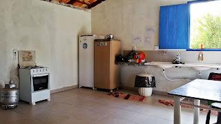 cozinha comunitária - Camping Canarinho