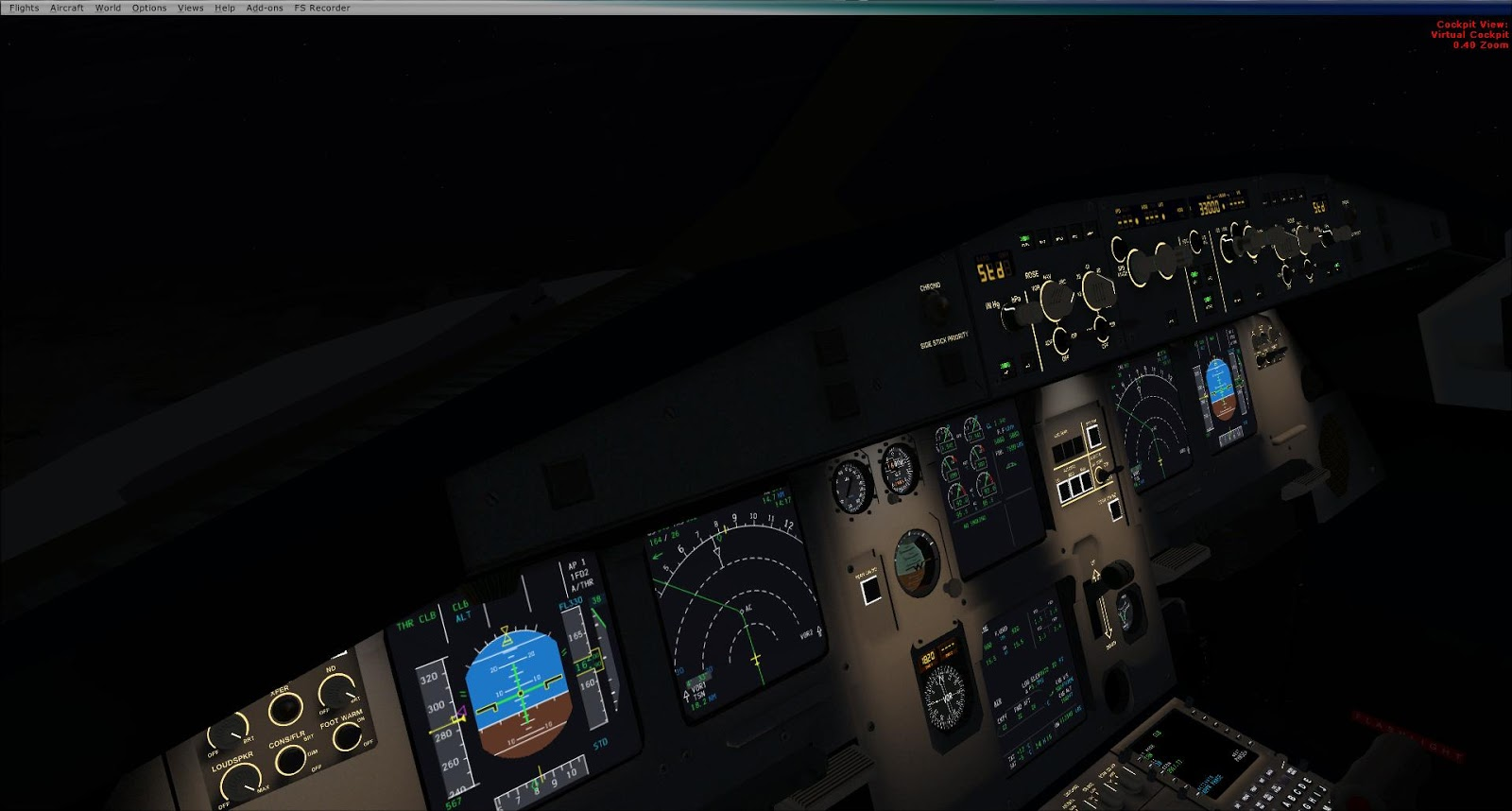 Flying with wings in Flight Simulator