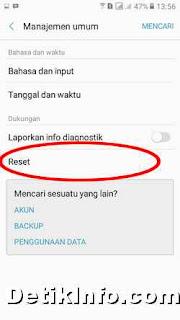 Cara reset HP Samsung Galaxy