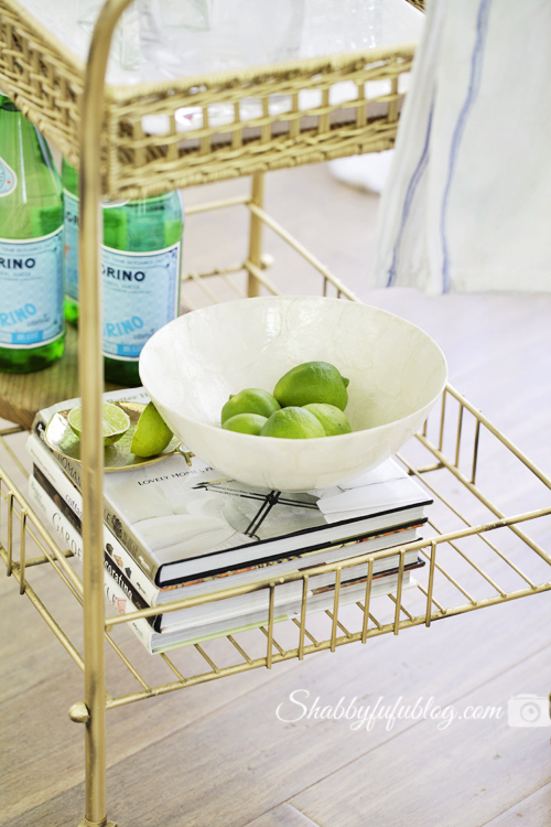 Gold bar cart diy