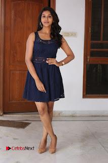 Actress Pooja Jhaveri Stills in Short Dress at Dwaraka Movie Interview  0193.JPG