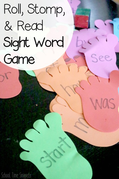 fun kindergarten sight word reading game