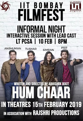 Hum chaar 2019 Hindi 720p WEB HDRip 700Mb x265 HEVC