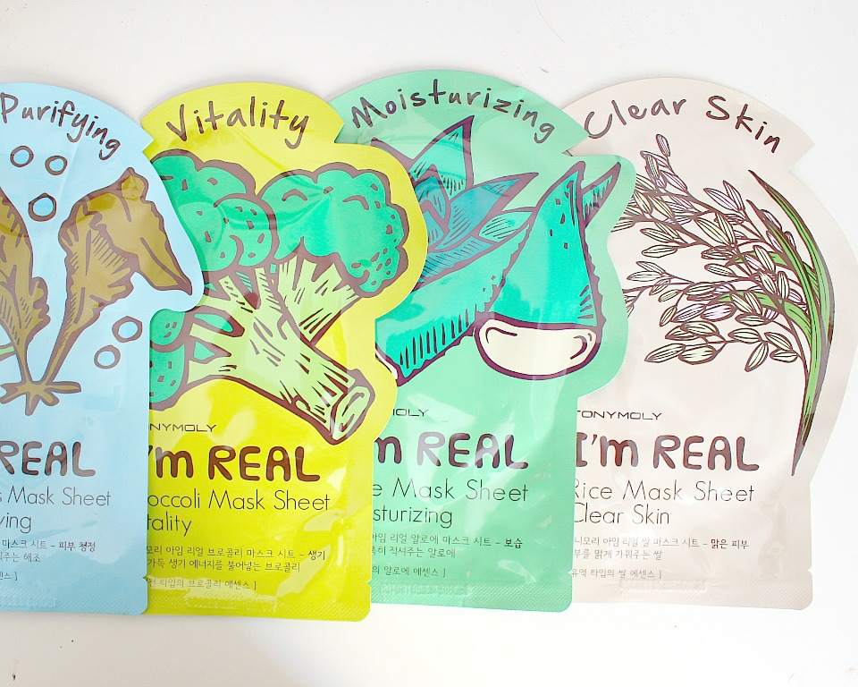 Korean Skincare: Tony Moly I'm Real Sheet Masks