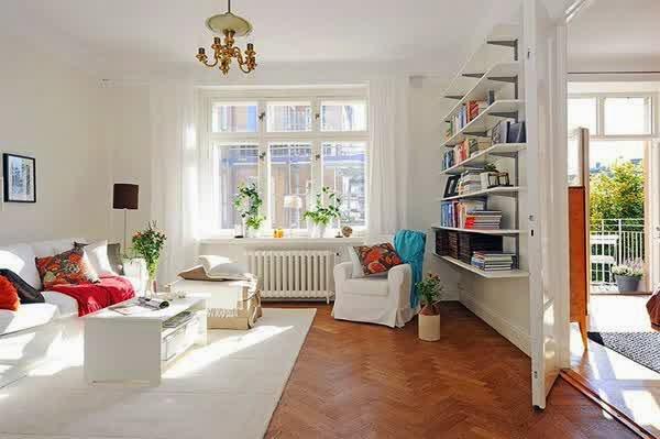 Desain Ruang Tamu Kecil Minimalis Sederhana Open Plan