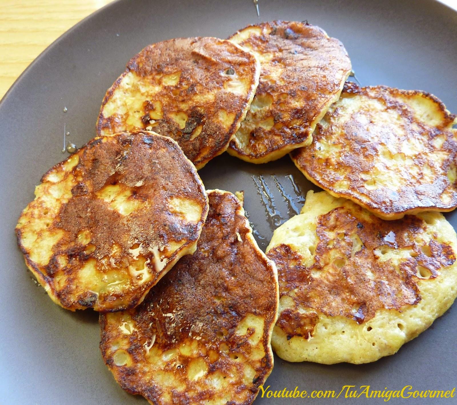 Receta: Pancakes de Banana o plátano con 3 ingredientes
