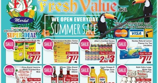 Fresh Value Flyer  Weekly Specials - Summer Sale valid September 1 - 7, 2017