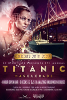 Titanic Masquerade Halloween Party Cruise 2017 Tickets