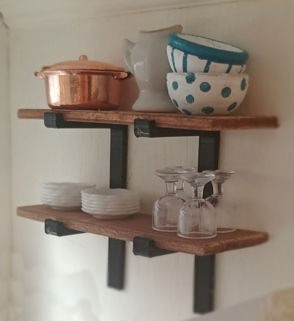 dollhouse kitchen shelves
