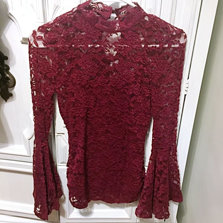 Almost Famous Lace Layered Look Top