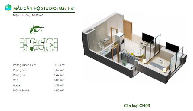 Căn studio 03