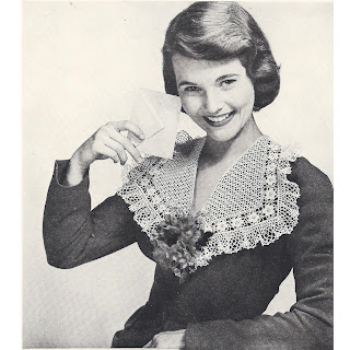 Crocheted Ruffle Collar Pattern S-97