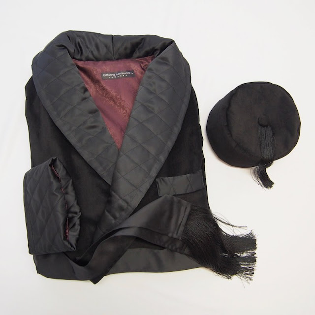 mens smoker hat vintage velvet smoking cap tasseled english gentleman victorian edwardian