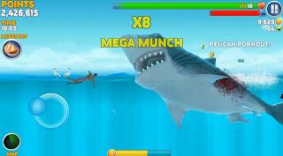 تحميل لعبة hungry shark evolution قرش الجوعان مهكرة نقود لا تنتهي للاندرويد مضمونة 100%