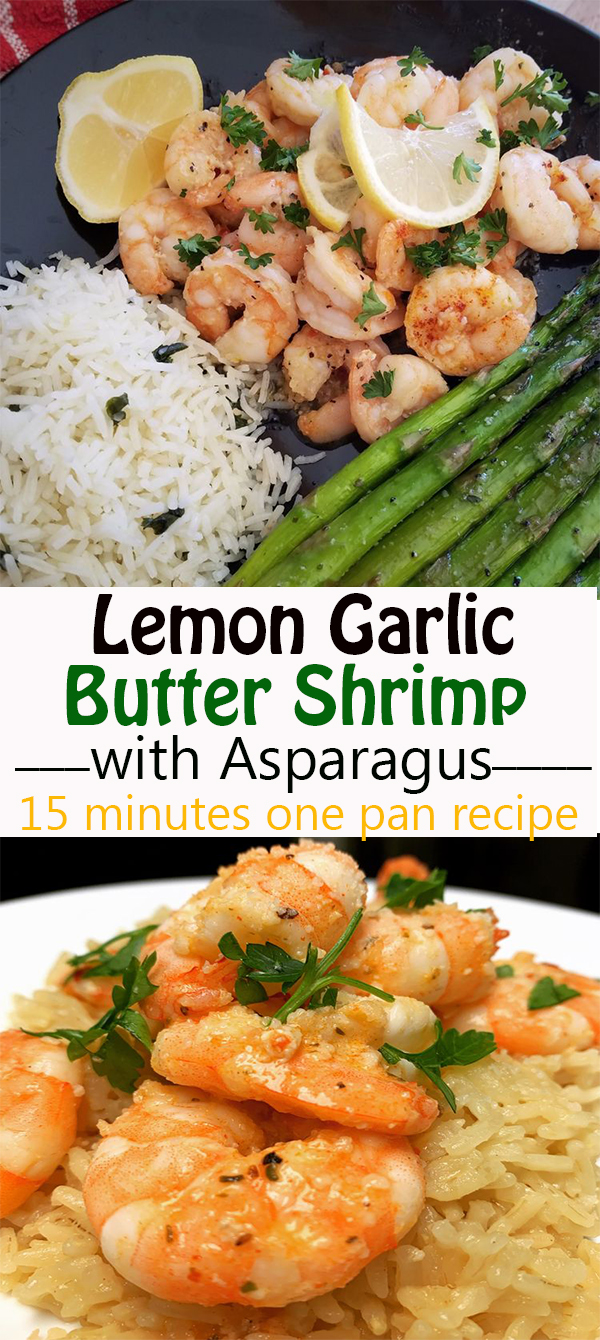 Lemon Garlic Butter Shrimp with Asparagus