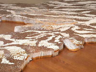 إبداع الفن التشكيلي سجادة من السجائر xubing-tobacco-rug-6