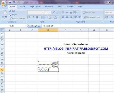 Rumus-rumus dasar pada Microsoft Excel part04