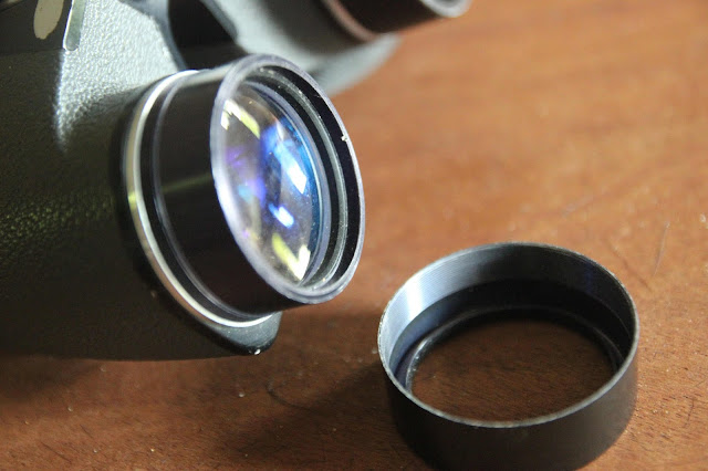 Collimating binoculars without prism adjustment