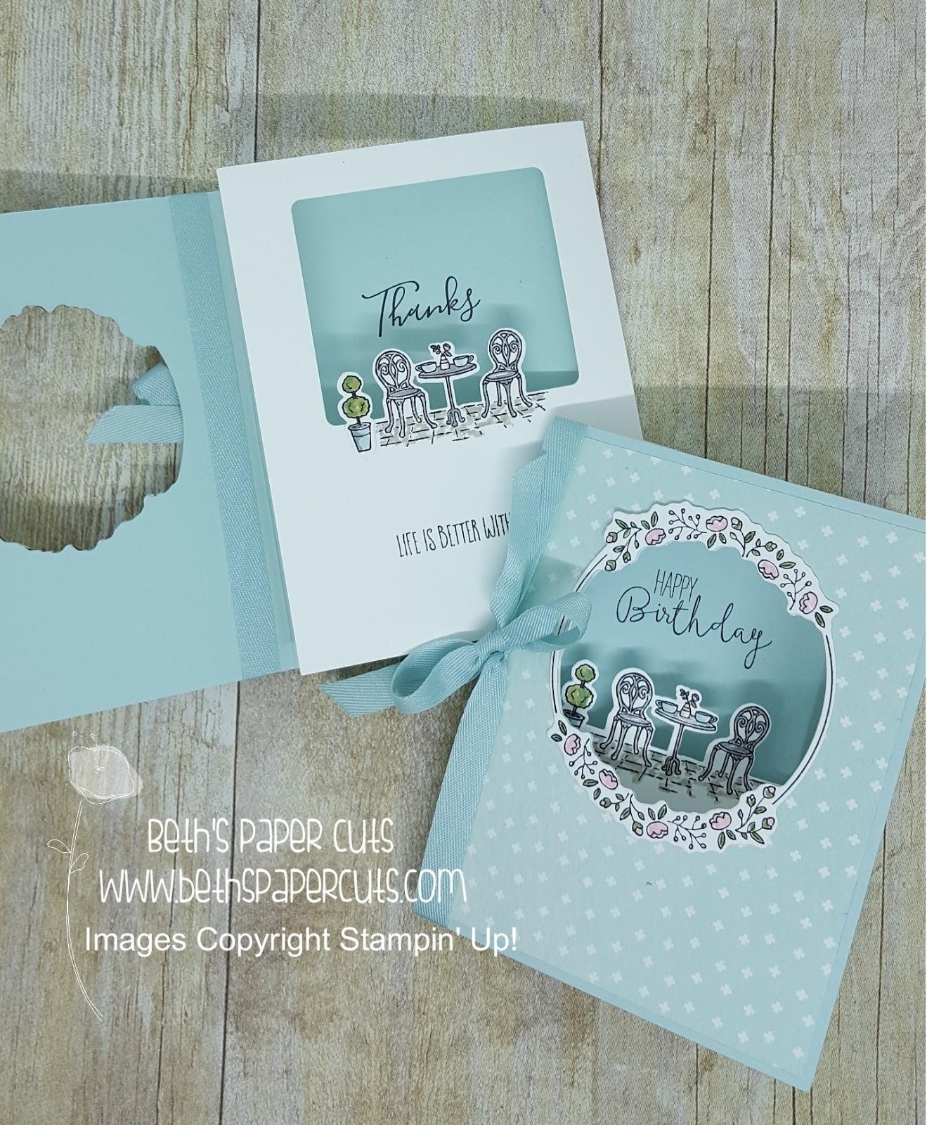 Beth\'s Paper Cuts: Charming Cafe Tri-Fold Card