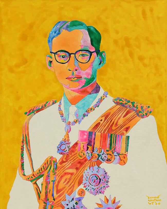 Alongkorn Lauwatthana อลงกรณ์ หล่อวัฒนา - Thai King Rama IX Art