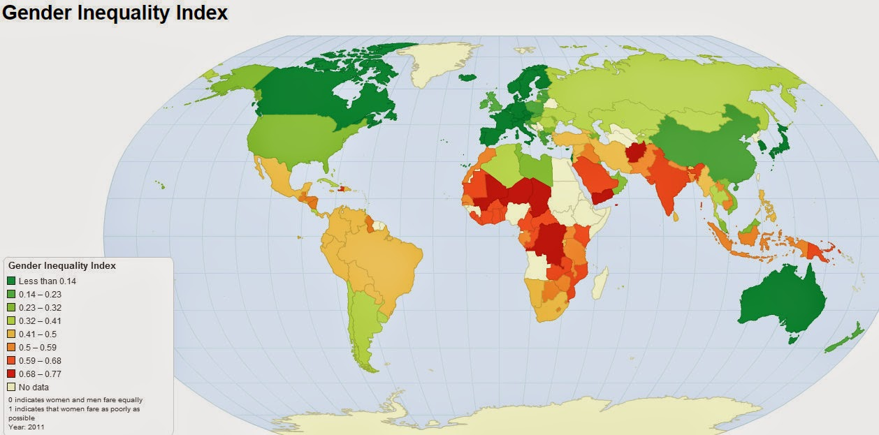 Gender Inequality Index (Map)