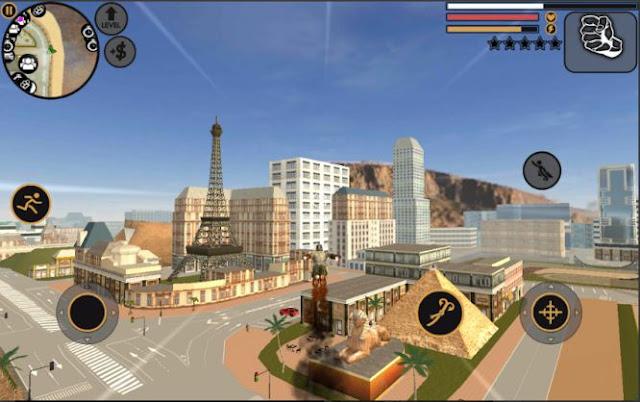 Game Mirip GTA 5 Android: Vegas Crime Simulator Mod Apk