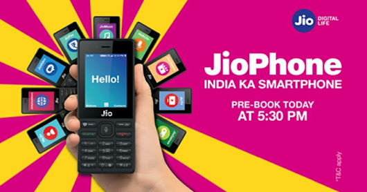 Jio Phone India Ka Smartphone Booking Start Today at Just Rs500
