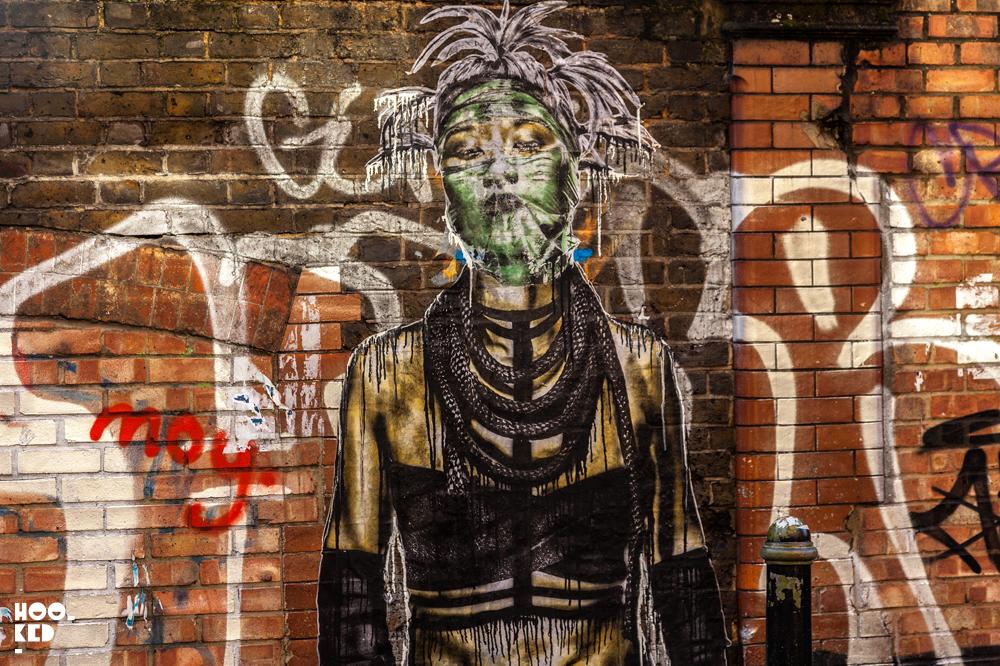 Eddie Colla, Hackney Wick Street Art paste ups in London. Photo ©Hookedblog