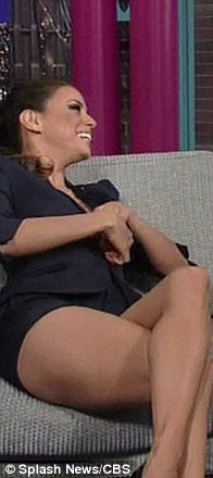 Eva Longoria Wardrobe Malfunction Forgot To Wear Her Bra On Letterman  TechnicaLifeStyle